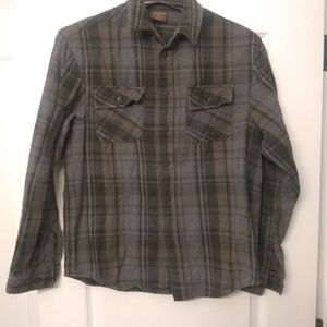 Great Northwest green plaid thick flannel shirt